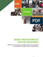 Một số mô hình quản lý rủi ro thiên tai dựa vào cộng đồng của các tổ chức CARE, Oxfam và World Vision