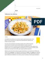 Receta Tallarines Tres Delicias