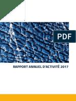 Rapport annuel d'activité 2017