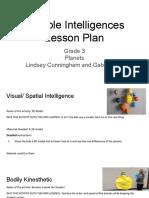 copy of multiple intelligences lesson plan student outline