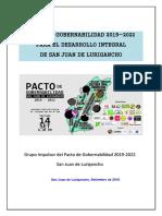 Pacto de Gobernabilidad de San Juan de Lurigancho 2019-2022 SJL-Versión Final