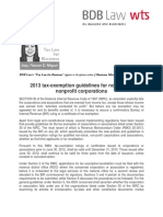 402. 2013 Tax-exemption Guidelines for Non-stock, Nonprofit Corporations FDM 8.1.13