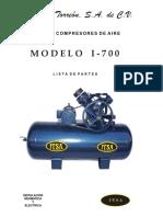 Itsa Listado de Partes Compresor I-700