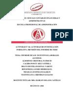 Informe de Los Incentivos Laborales
