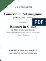 Pergolesi Concierto en Sol Mayor para flauta