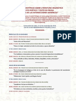 Programa V Jornadas Literatura Helenistica 2018