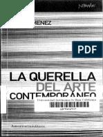 La Querella Del Arte Contemporaneo - Marc Jimenez