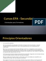 Cursos EFA - Secundário - Orientações Para Formadores