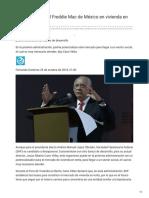 25/Octubre/2018 SHF puede ser el Freddie Mac de México en vivienda en renta