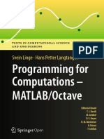 [Texts in Computational Science and Engineering 14] Svein Linge, Hans Petter Langtangen (auth.) - Programming for Computations - MATLAB_Octave_ A Gentle Introduction to Numerical Simulations with MATLAB_Octave (.pdf