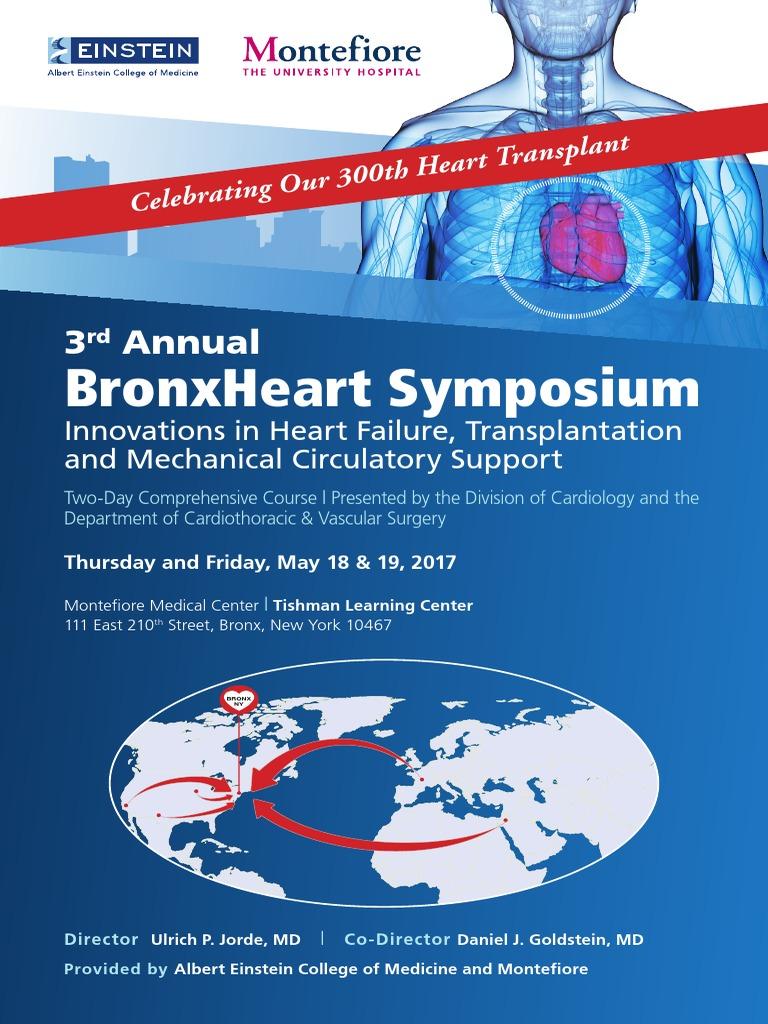 Symposium Brochure Bronx Heart | Cardiology | Doctor Of Medicine
