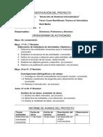 Informe de Avace de Proyecto