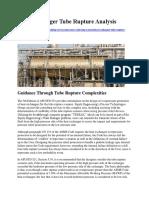 Heat Exchanger Tube Rupture Case Study