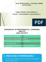 Hierarchy in Mathematics, Learning, Ability