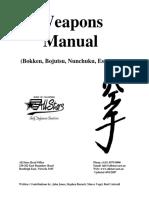 Weapons Manual - Bokken, Bojutsu, Nunchuku, Escrima