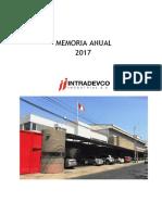Memoria Anual Intradevco 2017