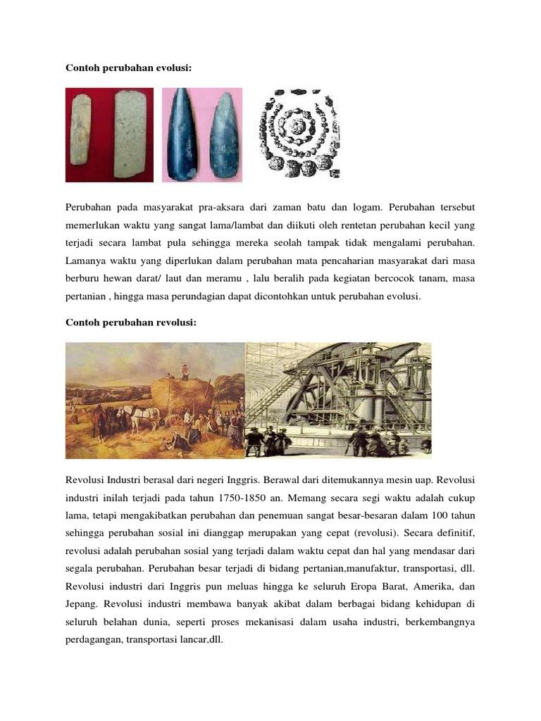 Contoh Perubahan Evolusi
