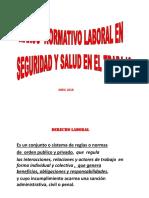 Marco Normativo Laboral en Salud y seguridad