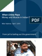 criminalisation in indian politics