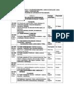 Cronograma Histología 2018 - II