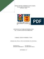 ESTUDIO DE FACTORES DETERMINANTES DE LA INNOVACION EN MARKETING
