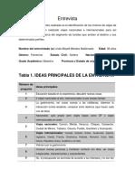 Entrevista Ideas Principales LINDA MAYEL
