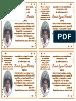 Tarjeta Papa Antonio Oficio