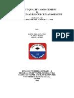 Project Quality Management & Project Human Resource Management