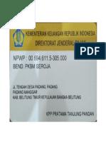 NPWP PKBM SEROJA BELITUNG TIMUR BANGKA BELITUNG.pdf