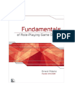 Fundamental of Role Playing Game Design by Ernest Adam