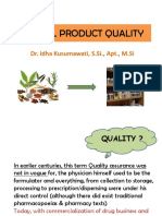 Herbal Product Quality