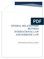 Relationship Between International Law and Domestic Law