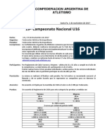 Boletin Informativo Nº 36 -17 Campeonato Nacional u16