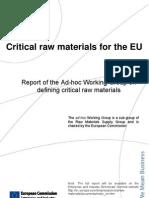 EU Critical Raw Materials