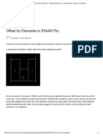 off setting of plate elements in staad