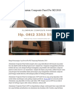 Harga Aluminium Composite Panel PerM2 2018 Hp. 0812 3353 5597
