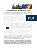 The European Financial Supervision Package