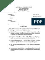 COMPLAINT Prac Court