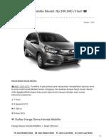 Rental & Sewa Honda MOBILIO Harian Murah ☎ 0821 1313 0173 TravelBos.id