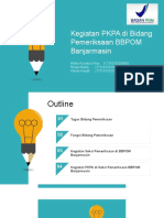 Presentasi Bidang Pemeriksaan BPOM