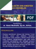 anestesi kehamilan