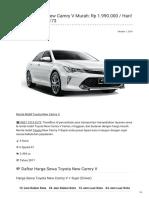 Rental & Sewa Toyota Camry Harian Murah ☎ 0821 1313 0173 TravelBos.id