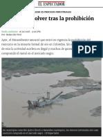 Desde hoy está prohibido el uso de mercurio para minería en Colombia