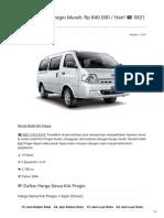 Rental & Sewa KIA Pregio Harian Murah ☎ 0821 1313 0173 TravelBos.id