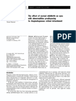 the effect of normal chidbirds on eyes with abnormalities predisposising to rhegmatogenous retinal detachment.pdf