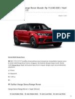 Rental & Sewa Range Rover Harian Murah ☎ 0821 1313 0173 TravelBos.id