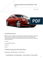 Rental & Sewa Ghost Roll Royce Harian Murah ☎ 0821 1313 0173 TravelBos.id