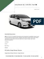 Rental & Sewa Nissan Serena Harian Murah ☎ 0821 1313 0173 TravelBos.id