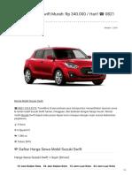 Rental & Sewa Suzuki Swift Harian Murah ☎ 0821 1313 0173 TravelBos.id