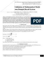 Experimental Validation of Mathematical Model for Vacuum Damped Recoil System